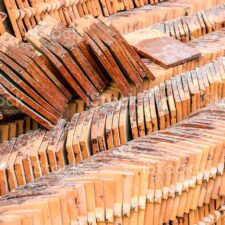 Terracotta tiles for covering the roof (tile, roofing, house)